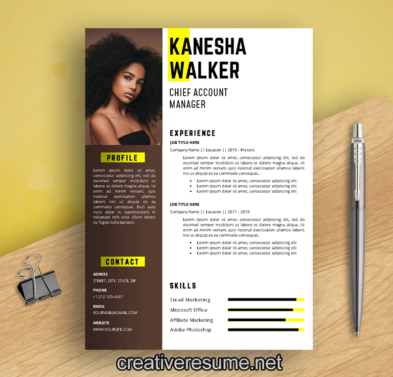 dance and artist resume template