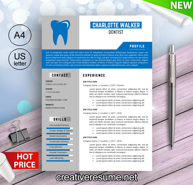 dental hygienist resume template