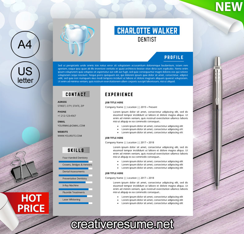 dental technician resume template