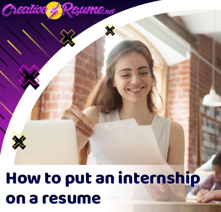 internship on a resume