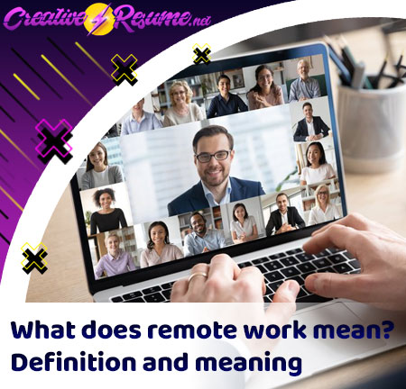 remote work definition and meaning